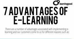 Top 7 e-Learning Advantages. Infographic